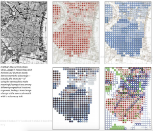 left to right: Government map of South Philadelphia; residential pop. density; personal income; superimposition of pop. density and income; residential density and land use