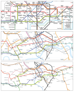 underground maps of London; Beck, Noas (2012), geographical accuracy